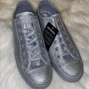 Men or women's Converse Silver with glitter